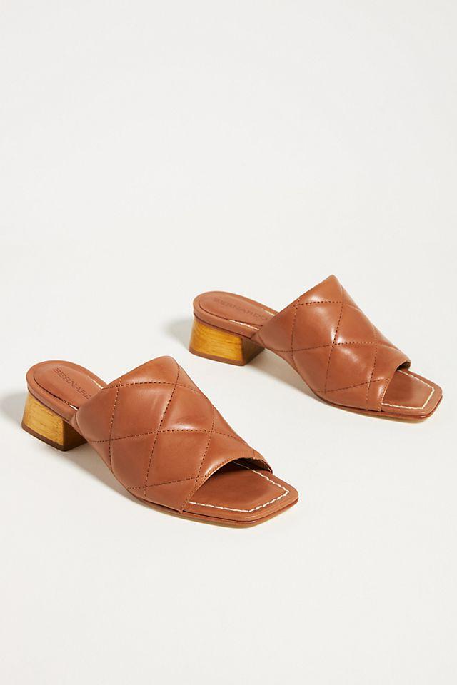 Bernardo Quilted Heeled Slide Sandals $175.00