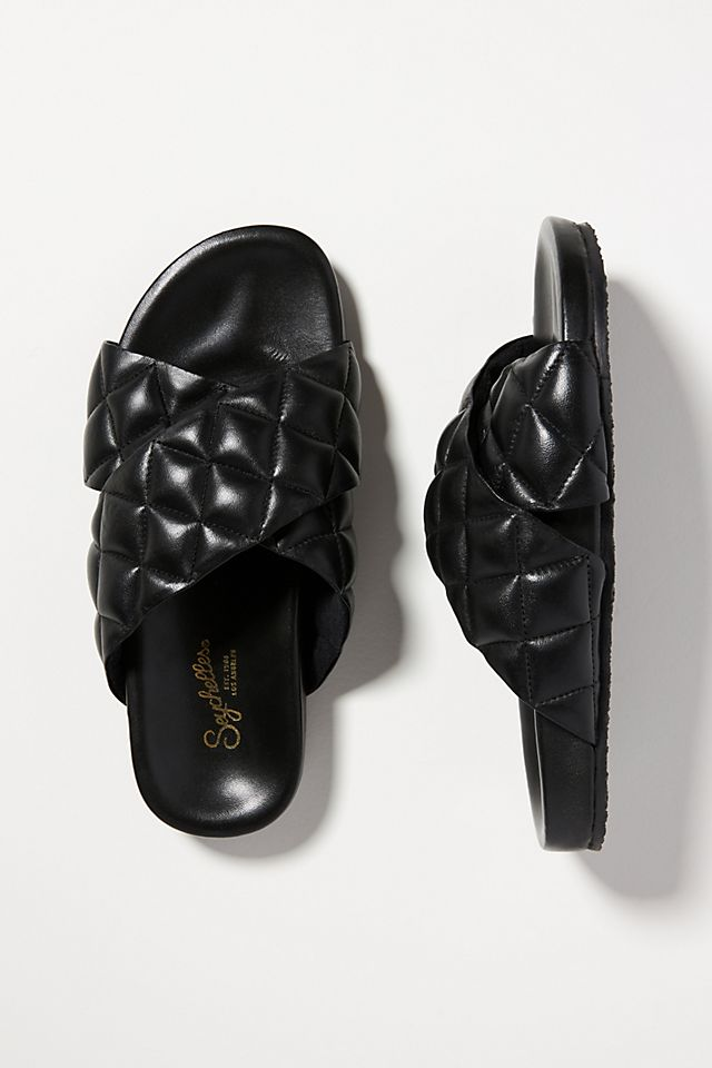 Seychelles Wide Awake Quilted Puffy Slide Sandals $69.95