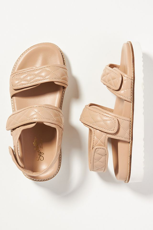 Seychelles New to This Quilted Platform Sandals $109.00
