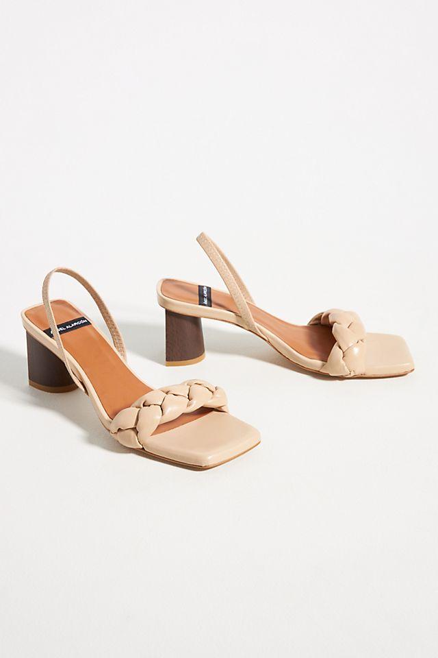 Puffy Braid Heeled Slingback Sandals $170.00