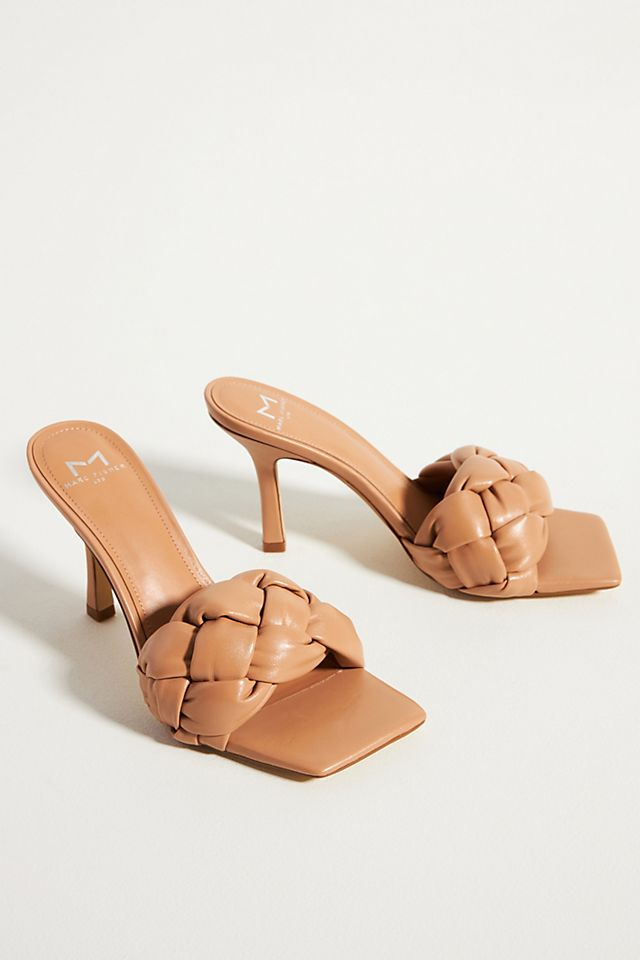 Marc Fisher Puffy Heeled Slide Sandals $160.00