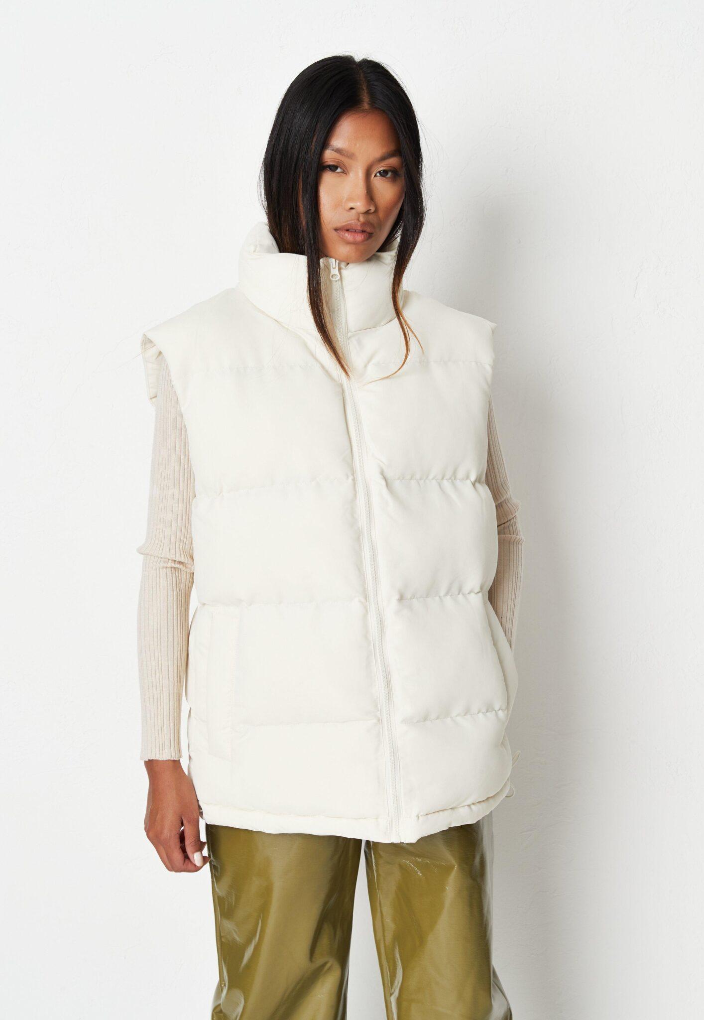ecru boxy padded vest $62.00