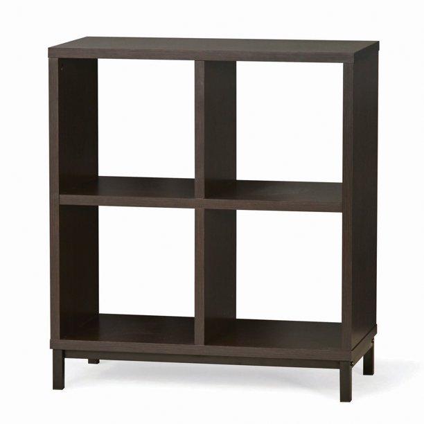 Square 4-Cube Storage Organizer with Metal Base, Espresso $59.00