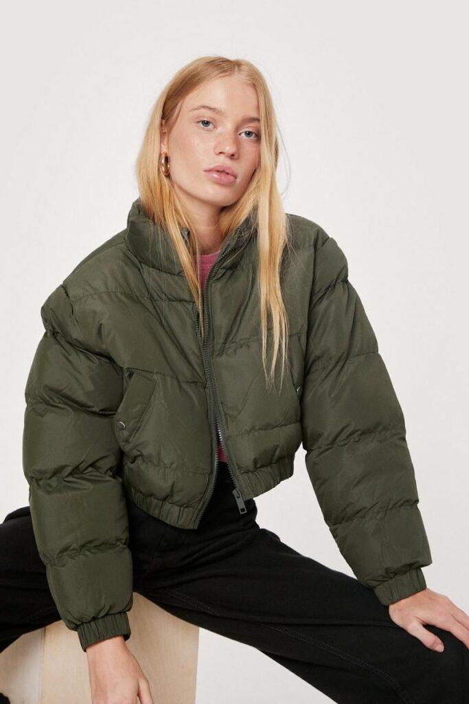 Petite Cropped Padded Jacket $39.60
