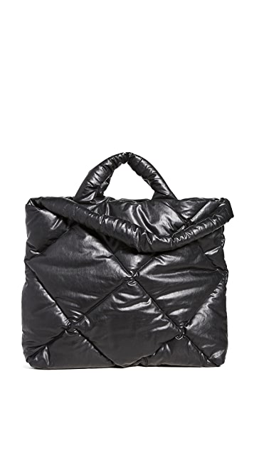 KASSL Bag Large Oil Quilted Tote $470.00