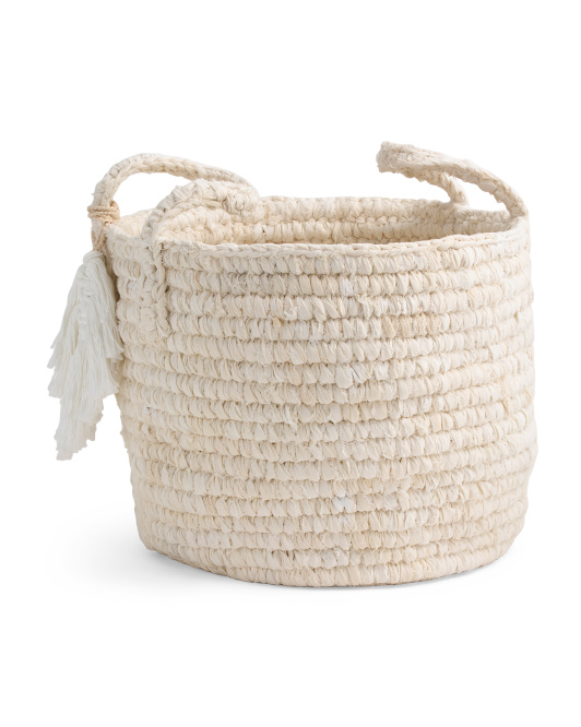 MADE IN INDONESIA Small Tonal Cotton Storage Tote $19.99