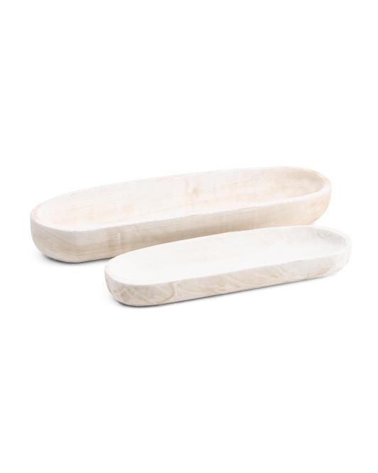 SAGEBROOK HOME Set Of 2 Wood Decor Plates $29.99 https://fave.co/3hvgy1B