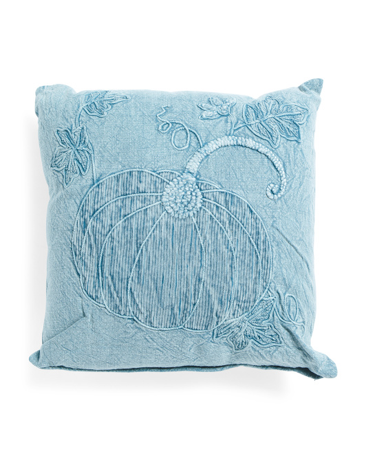 HANDCRAFTED IN INDIA 20x20 Washed Pumpkin Pillow $19.99