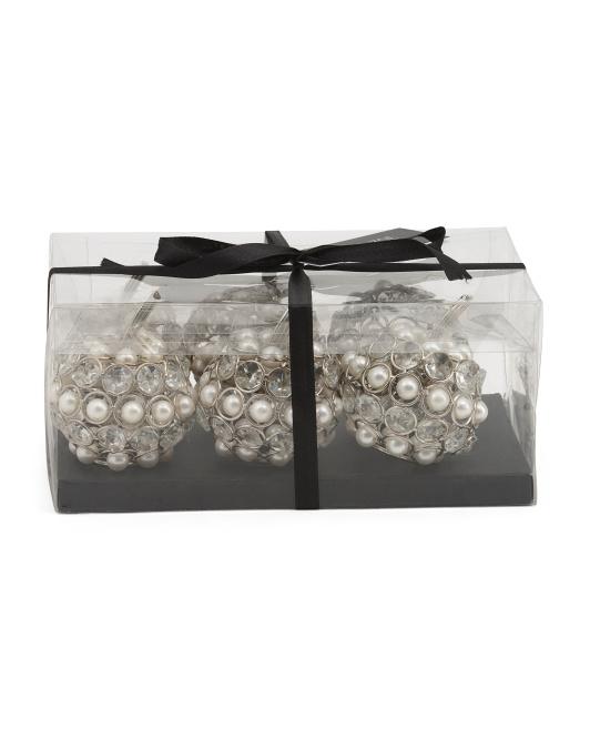 BELLA LUX Set Of 6 Artificial Pearl Crystal Pumpkins $24.99