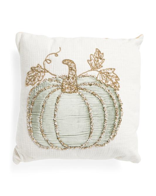 HANDCRAFTED IN INDIA20x20 Velvet Pumpkin Pillow $24.99