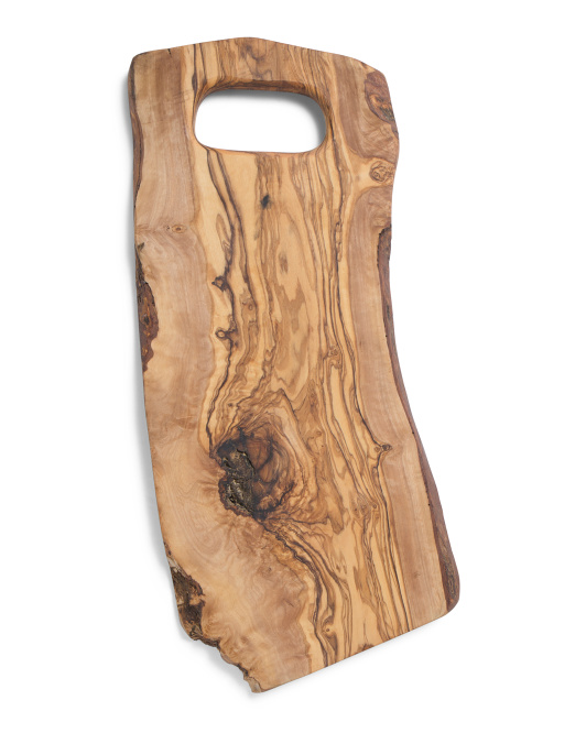 ARTE LEGNO Made In Italy Olivewood Handled Chop Board $29.99 https://fave.co/3nuORtk