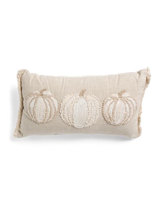 DEVI DESIGNS 14x26 3 Pumpkin Pillow $19.99