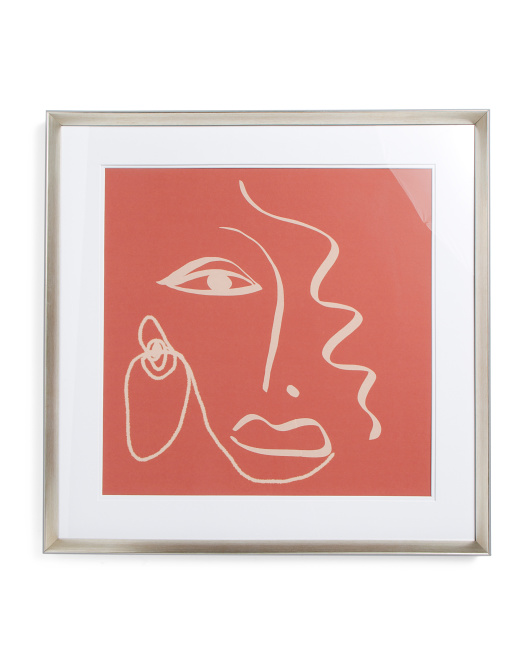 PICTURE DEPOT 30x30 Lady In Red Under Glass Wall Art $59.99 https://fave.co/3hy489b