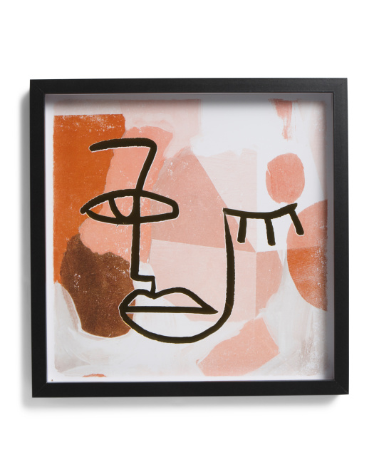 OLIVER BY OLIVER GAL 16x16 Terracotta Shapes Shadowbox Wall Art $19.99 https://fave.co/3hw20P2